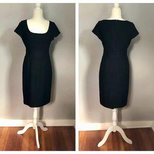 Banana Republic Wool Black Shift Dress Size 8